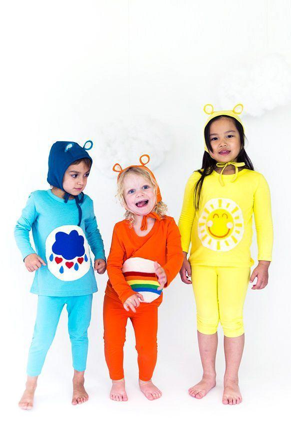 """<p>Match the <em>Care Bears</em> costume to your kid's mood — and favorite color — by choosing between Cheer, Funshine, Share, Harmony, or dare we say, Grumpy. Then round out the group by gathering their moodiest besties! </p><p><em><a href=""""http://sayyes.com/2016/09/care-bears-halloween-costume"""" rel=""""nofollow noopener"""" target=""""_blank"""" data-ylk=""""slk:Get the tutorial at Say Yes >>"""" class=""""link rapid-noclick-resp"""">Get the tutorial at Say Yes >></a><br></em></p>"""