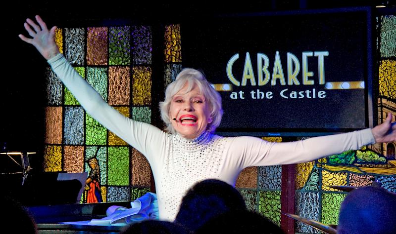 """HOLLYWOOD - MARCH 03: Actress/singer Carol Channing performs at """"The First 80 Years Are The Hardest"""" An Intimate Evening with Carol Channing at The Magic Castle on March 03, 2009 in Hollywood, California. (Photo by Brian To/FilmMagic)"""
