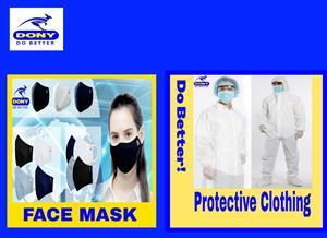 Your Cloth Mask Isn't Enough. DONY Has You Covered. New line of affordable, washable masks offers superior protection and comfort.
