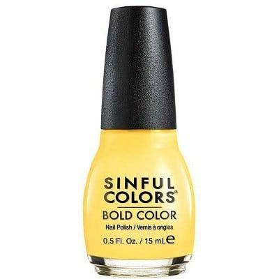 <p><span>SinfulColors Nail Color in 1598 Yolo Yellow</span> ($2)</p>