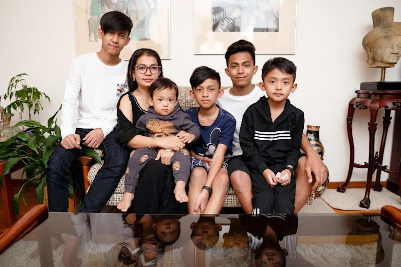 While Australia granted asylum to Kem Ley's family, it also struck a controversial deal with Hun Sen's government to take in a small number of refugees refused Australian asylum in exchange for $55 million in aid (AFP Photo/Mark PETERSON)