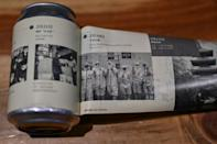 """The cans of """"Wuhan Stay Strong"""" beer have a label that peels back to reveal a chronology of the coronavirus outbreak"""