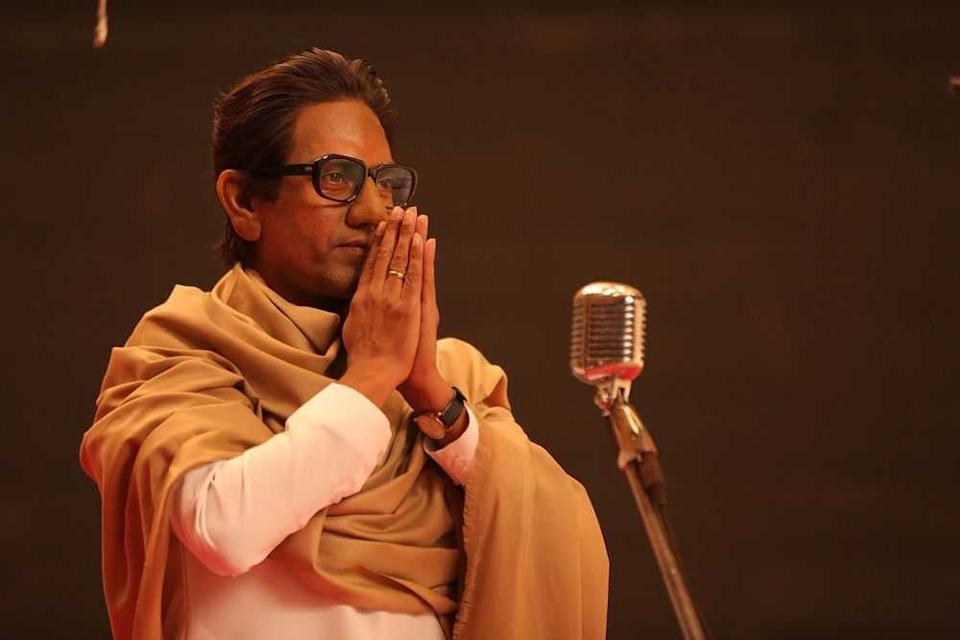 Shiv Sena supremo Bal Thackeray lived again through Nawaz -- a Muslim and an immigrant from UP, two identities for whom Thackeray had no love lost. The wiry Nawaz with the combed back hair, thick black glasses, and the sharp tongue plays the rabble-rousing demigod brilliantly.