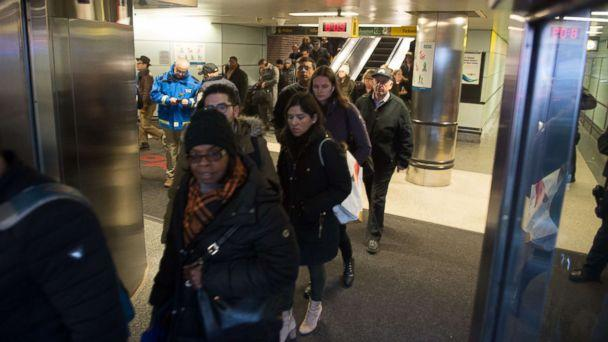 PHOTO: Police and other first responders respond to a reported explosion at the Port Authority Bus Terminal, Dec. 11, 2017, in New York City. (Bryan R. Smith/AFP/Getty Images)