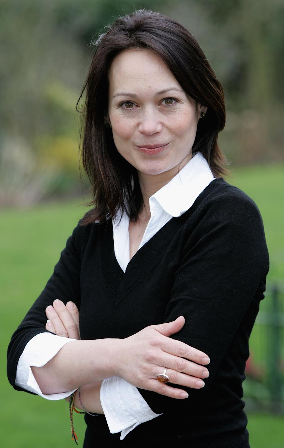 BROMLEY, UNITED KINGDOM - APRIL 03:  Leah Bracknell poses at the photocall and launch for the new theatrical production of 'Strangers On A Train' at the Churchill Theatre, Bromley on April 3, 2006 in Kent, England. The show, based on the novel by Patricia Highsmith, and filmed by Alfred Hitchcock, will run from April 27 to May 6 before embarking on a major tour of theatres across the country.  (Photo by Gareth Cattermole/Getty Images)