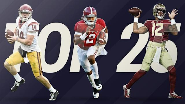 No surprise that Alabama tops SN's preseason college football rankings, but the rest of the Top 25 is open for debate.