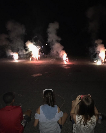 "<p>The mom of 8 was typically all about her brood. ""Just some of the kids and friends enjoying our show! #MyFavoritePart #FavoriteSummerHoliday #HappyFourth"" (Photo: <a href=""https://www.instagram.com/p/BWJmQhOgc_i/?hl=en"" rel=""nofollow noopener"" target=""_blank"" data-ylk=""slk:Kate Gosselin via Instagram"" class=""link rapid-noclick-resp"">Kate Gosselin via Instagram</a>) </p>"