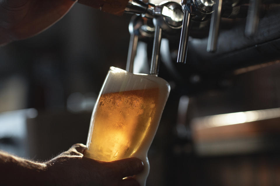 During the first lockdown, 70 million pints of beer were thrown away, according to industry figures. Photo: Getty
