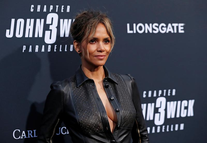 "Cast member Halle Berry arrives for a screening of the movie ""John Wick: Chapter 3 - Parabellum"" in Los Angeles, California, U.S. May 15, 2019. REUTERS/Mario Anzuoni"