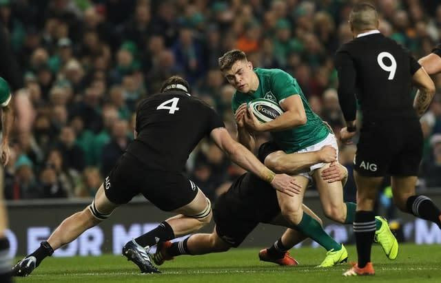New Zealand's Brodie Retallick starred in the win over Ireland (Brian Lawless/PA)