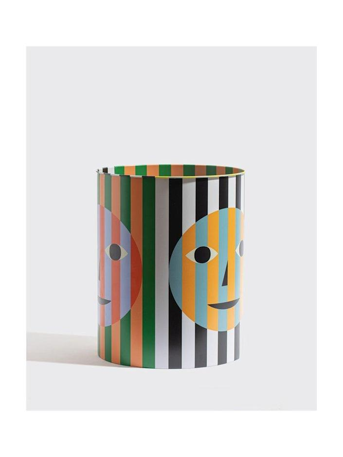 """Why go for an ordinary trash bin when you can opt for this cheerful version? $65, Yowie. <a href=""""https://www.shopyowie.com/products/everybody-bin"""" rel=""""nofollow noopener"""" target=""""_blank"""" data-ylk=""""slk:Get it now!"""" class=""""link rapid-noclick-resp"""">Get it now!</a>"""