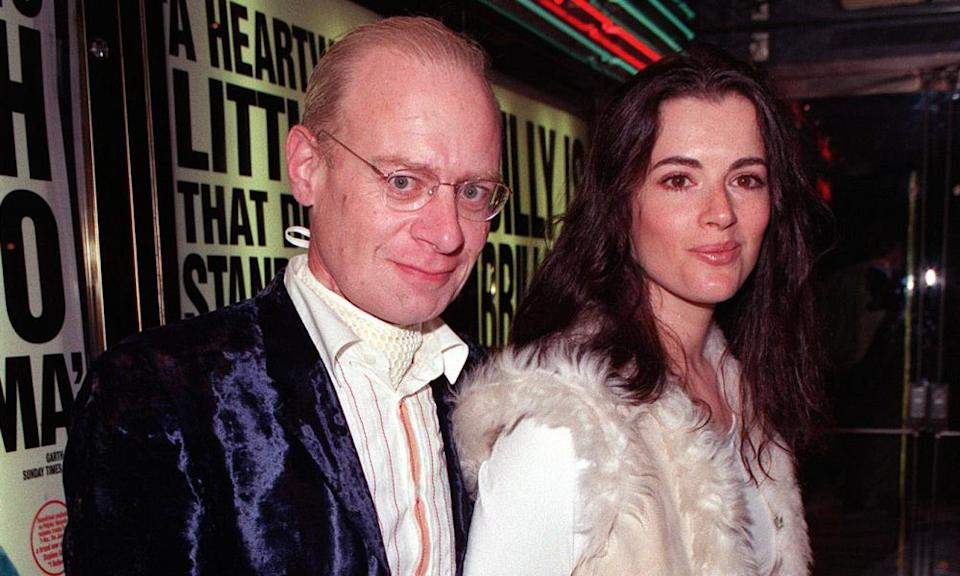 Nigella Lawson with her late husband, John Diamond, in 2000.