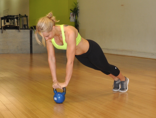 View Photos Kettlebell Plank