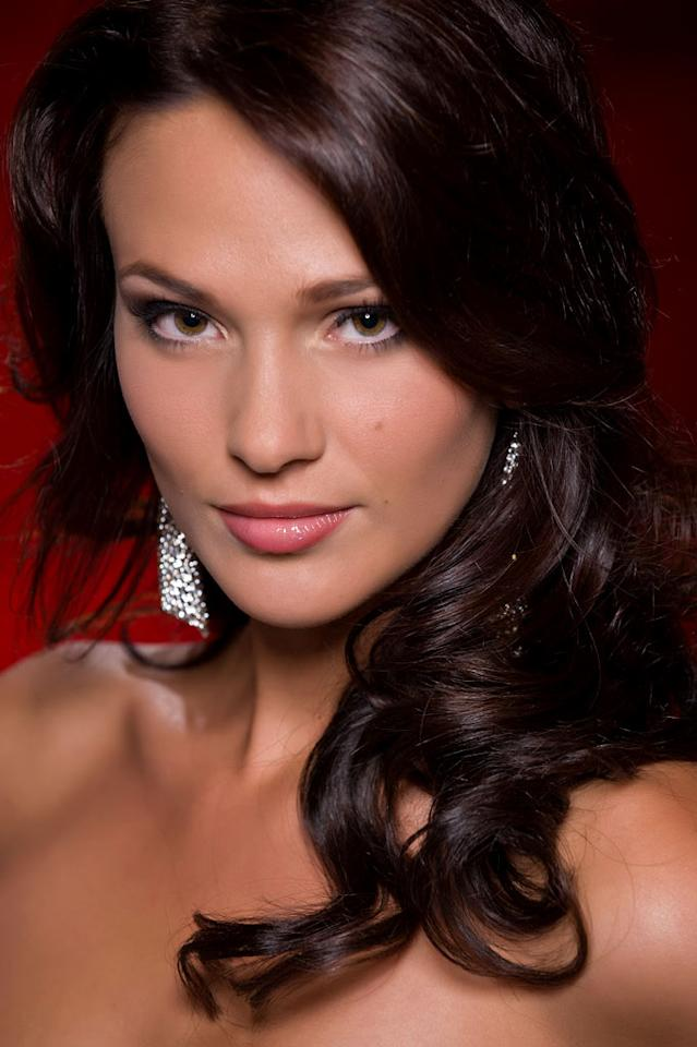 Cilou Annys, Miss Belgium 2010, competes for the title of Miss Universe 2010 during the 59th Annual Miss Universe competition from the Mandalay Bay Resort and Casino, in Las Vegas, Nevada.