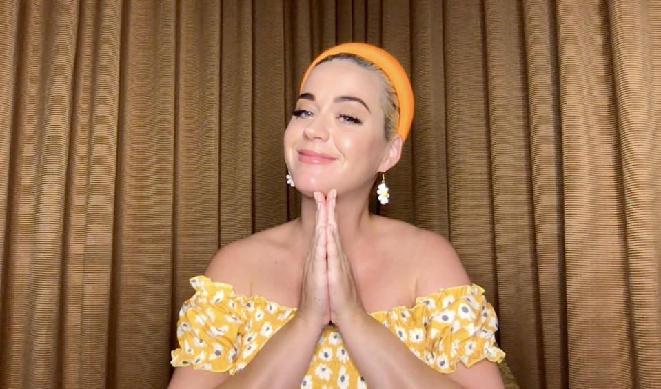 LOS ANGELES, CALIFORNIA - AUGUST 20: In this screengrab, Katy Perry participates in a Q&A livestream with Singapore-based global e-retailer SHEIN on the SHEIN app on August 20, 2020. (Photo by Getty Images/Getty Images for SHEIN)