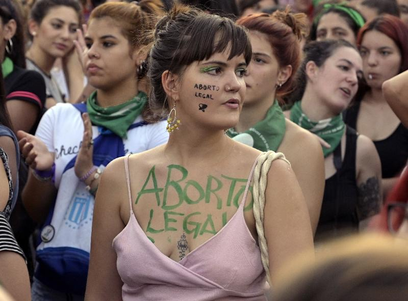 Activists have demanded the legalisation of legal, safe and free abortion in Argentina but the Senate voted against (AFP Photo/Juan MABROMATA)