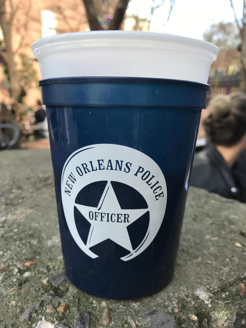 New Orleans police give the best presents. (Joe Garza/Yahoo Sports)