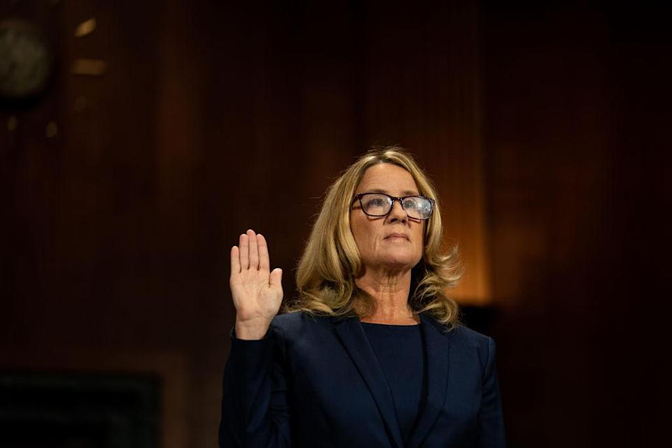 Christine Blasey Ford testified in September about her alleged sexual assault by Brett Kavanaugh. She's still suffering the fallout of going public. (Photo: Getty Images)
