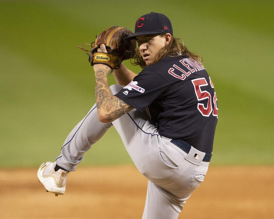 Mike Clevinger #52 of the Cleveland Indians