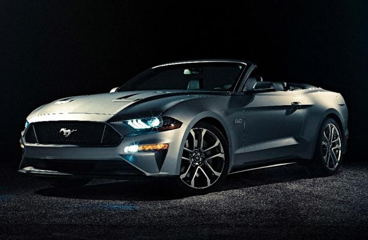 2018 Ford Mustang GT convertible front quarter left photo