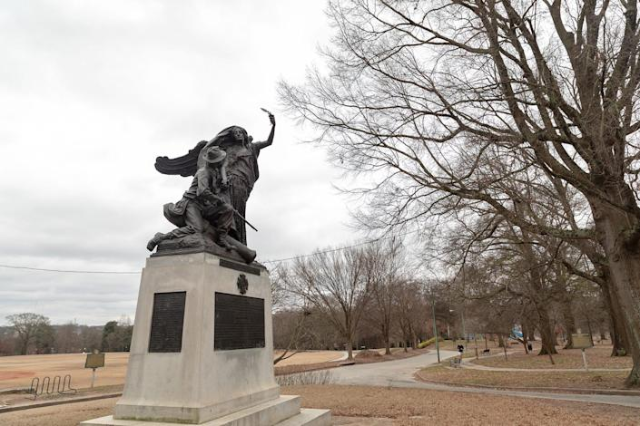 The Peace Monument at Piedmont Park in Atlanta.