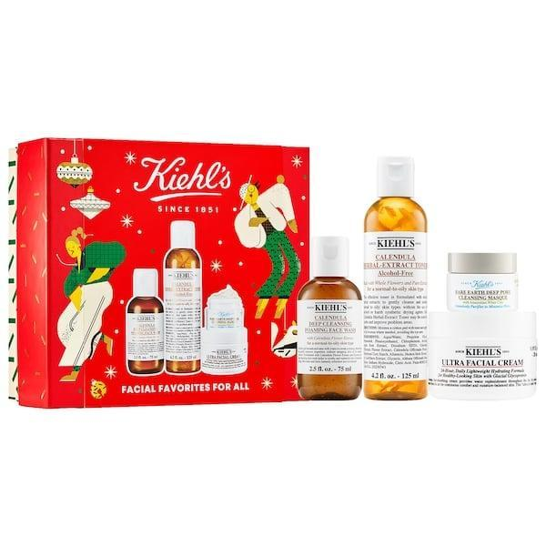 <p>This <span>Kiehl's Since 1851 Facial Favorites For All</span> ($49) packs bestsellers together for a whole new gentle skin-care routine. There's a foaming face wash and toner to get things clean everyday, plus a deeply cleansing mask for weekly use instead. Of course, the moisturizer inside will come in handy, too, especially when there's a chill in the air.</p>