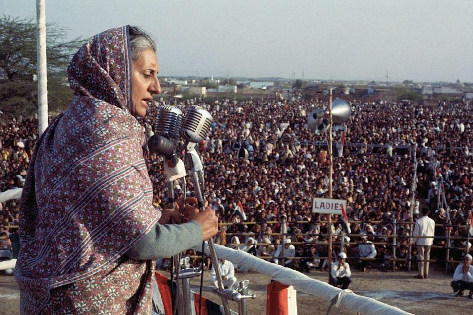 <p>In 1971, Indira Gandhi was reelected as India's first, and thus far only, female prime minister. Her tenure in office ushered in India as the regional hegemon of Southeast Asia and established the country as an international superpower.</p>