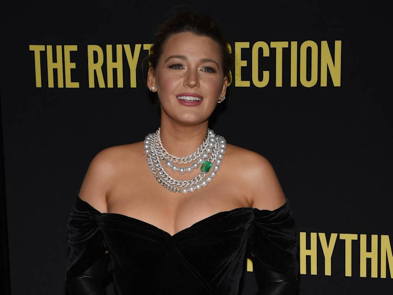 Blake Lively rocks giant emerald necklace to The Rhythm Section premiere