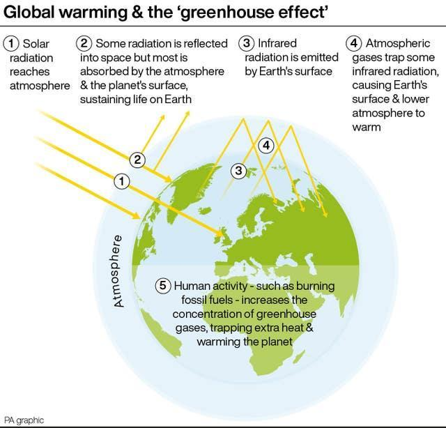 Greenhouse gases graphic