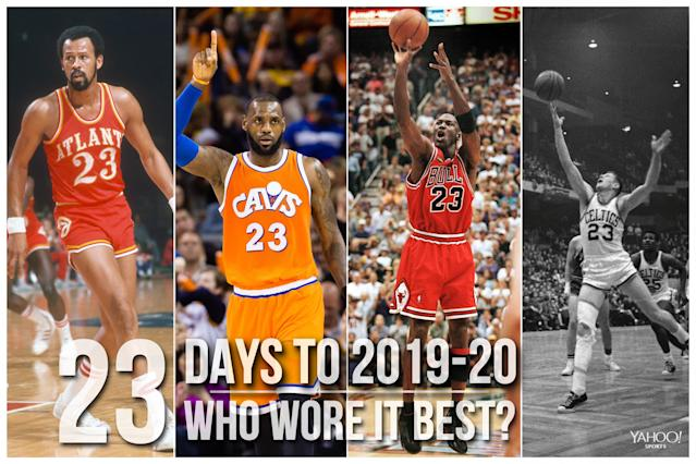 Which NBA player wore No. 23 best?
