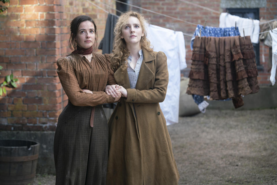 Amalia True (Laura Donnelly) and Penance Adair (Ann Skelly) are far and away the best thing about The Nevers. Picture: BINGE