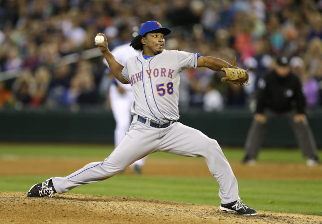 Ex-Mets closer Jenrry Mejia, who was previously banned for life by MLB, has signed a minor-league deal with the Boston Red Sox. (AP)