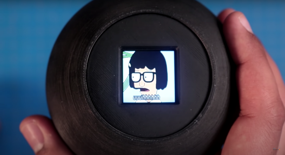 """This highly ambiguous """"Magic GIF Ball"""" answers users' yes or no questions using a series of popular GIFs from the internet."""