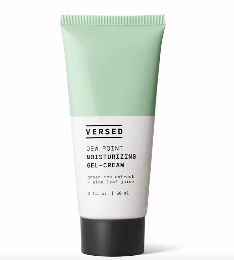 <p>The lightweight <span>Versed Dew Point Moisturizing Gel-Cream</span> ($15) contains calming ingrediants such as green tea and aloe vera. This even works on oily skin!</p>