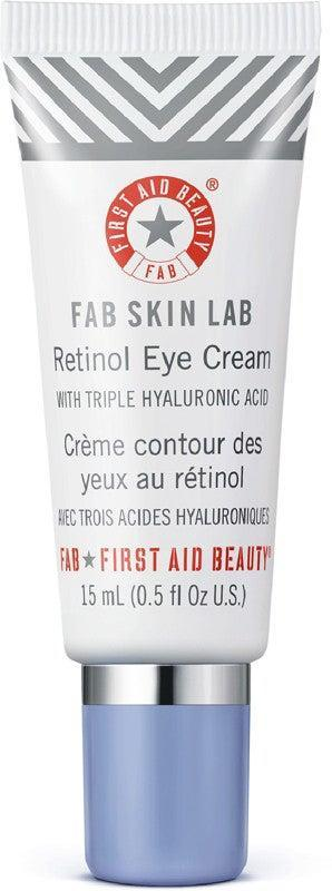 "<h2>First Aid Beauty FAB Skin Lab Retinol Eye Cream with Triple Hyaluronic Acid</h2><br><br>When you pair the wrinkle-reducing benefits of retinol with the hydrating powers of hyaluronic acid, you get this super creamy formula that'll leave the delicate area around your eyes smooth and hydrated.<br><br><br><br><br><strong>First Aid Beauty</strong> First Aid Beauty FAB Skin Lab Retinol Eye Cream with Tr, $, available at <a href=""https://go.skimresources.com/?id=30283X879131&url=https%3A%2F%2Fwww.ulta.com%2Ffab-skin-lab-retinol-eye-cream-with-triple-hyaluronic-acid%3FproductId%3Dpimprod2003018%26sku%3D2539212%26cmpid%3DPS_Non%21google%21Product_Listing_Ads%26cagpspn%3Dpla%26CATCI%3Dpla-515511569706%26CAAGID%3D26652845550%26CAWELAID%3D330000200001678685%26catargetid%3D330000200001527434%26cadevice%3Dc%26gclid%3DEAIaIQobChMI-6bSqqmi6AIVmoVaBR31ywJaEAQYASABEgJonvD_BwE"" rel=""nofollow noopener"" target=""_blank"" data-ylk=""slk:Ulta Beauty"" class=""link rapid-noclick-resp"">Ulta Beauty</a>"
