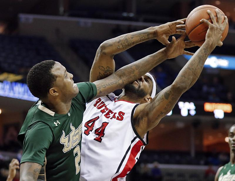 Moore leads Rutgers past South Florida 72-68