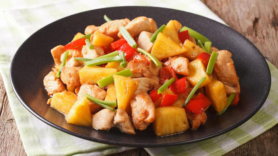 Food, Meal, pineapple chicken