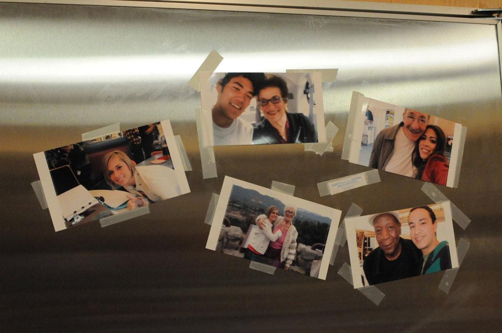 Photos on the fridge in the house show that the juniors and the seniors are starting to understand each other.