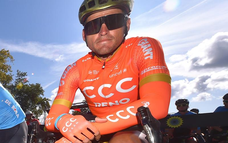 Greg Van Avermaet appeared relaxed as he waited for the Grand Prix Cycliste de Montréal to start - 2019 Getty Images
