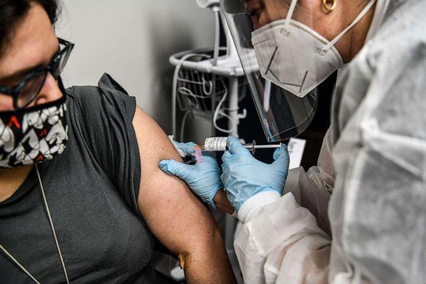 PHOTO: In this Aug. 13, 2020, file photo, a person receives a COVID-19 vaccination at the Research Centers of America in Hollywood, Fla. (Chandan Khanna/AFP via Getty Images, FILE)