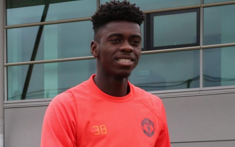 Axel Tuanzebe at Carrington - Manchester United