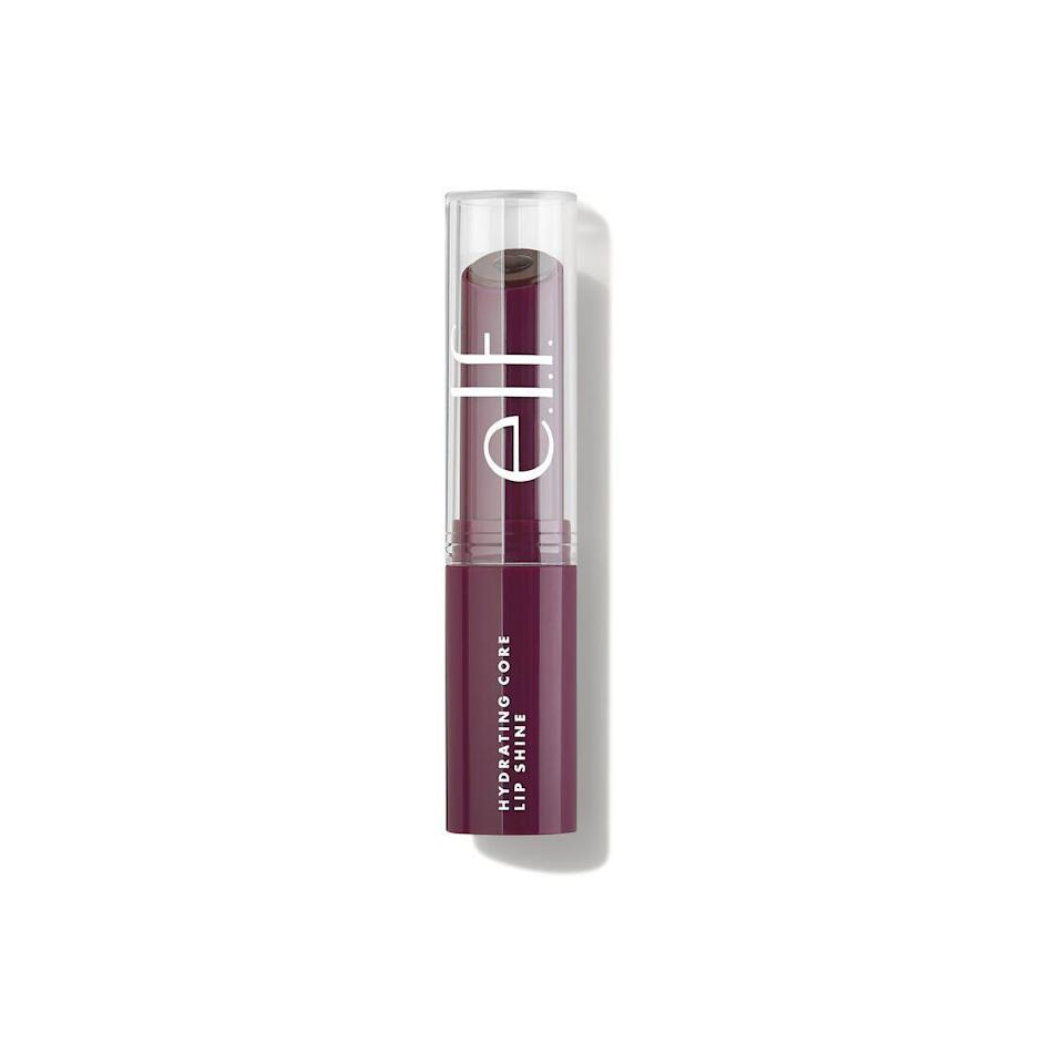 """<p><strong>e.l.f. Cosmetics</strong></p><p>ulta.com</p><p><strong>$6.00</strong></p><p><a href=""""https://go.redirectingat.com?id=74968X1596630&url=https%3A%2F%2Fwww.ulta.com%2Fp%2Fhydrating-core-lip-shine-pimprod2020786&sref=https%3A%2F%2Fwww.harpersbazaar.com%2Fbeauty%2Fmakeup%2Fg37760440%2Fclinique-black-honey-dupe%2F"""" rel=""""nofollow noopener"""" target=""""_blank"""" data-ylk=""""slk:Shop Now"""" class=""""link rapid-noclick-resp"""">Shop Now</a></p><p>One of the most commonly listed dupes on the market, this lip shine by e.l.f. is a low-cost berry-toned lipstick that will leave your lips looking bitten.</p>"""