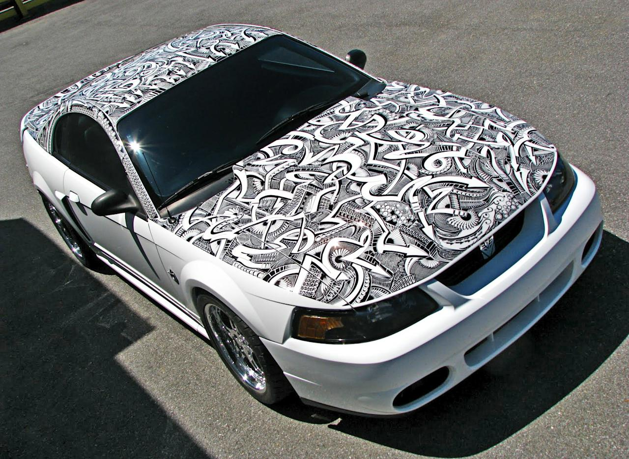 The Sharpie Ford Mustang