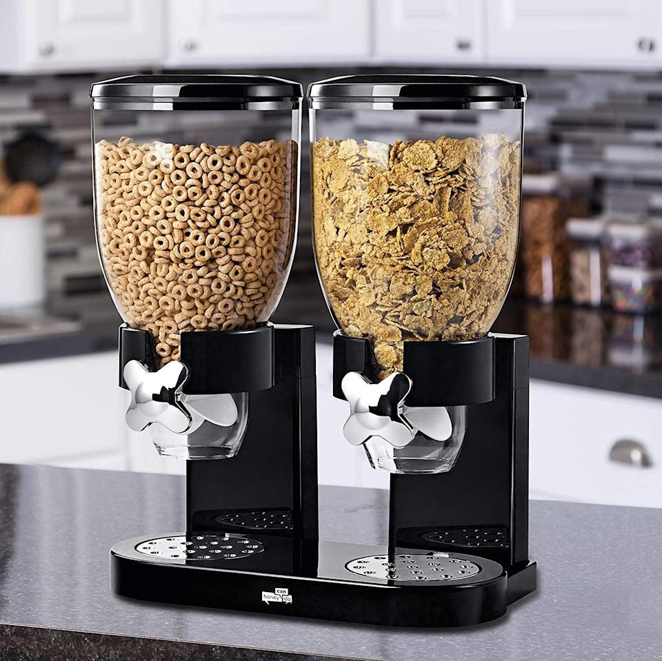<p>Give your kitchen that hotel upgrade with this <span>Zevro /GAT200 Indispensable Dry Food Dispenser</span> ($39). You can use this for cereal, snacks, candy, and more.</p>
