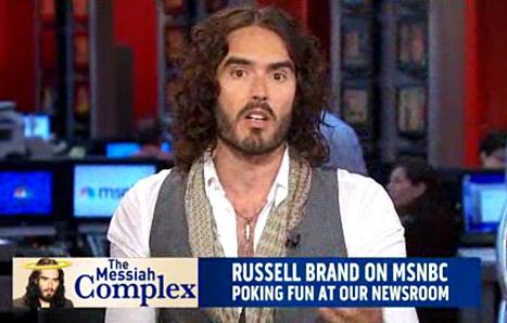 """Russell Brand Mocks MSNBC Anchors, Teaches Them a Lesson in """"Good Manners"""""""