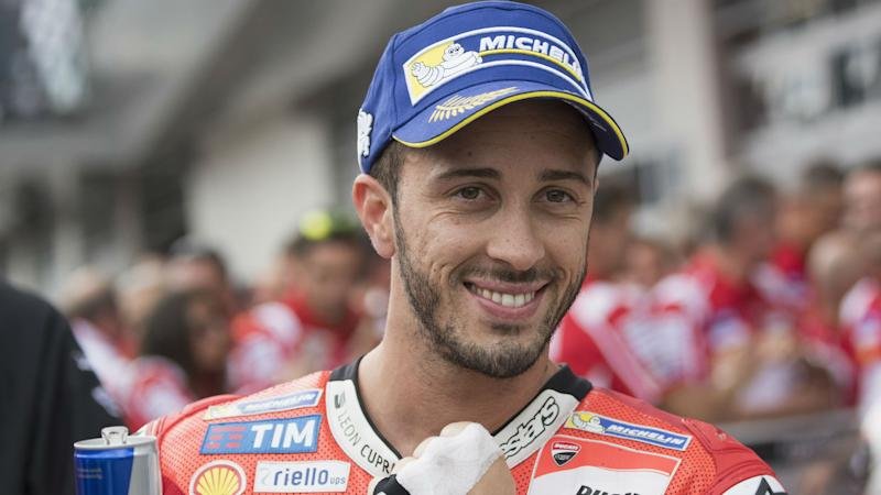 Dovizioso capitalises on Marquez blow-out to claim MotoGP championship lead with Silverstone win