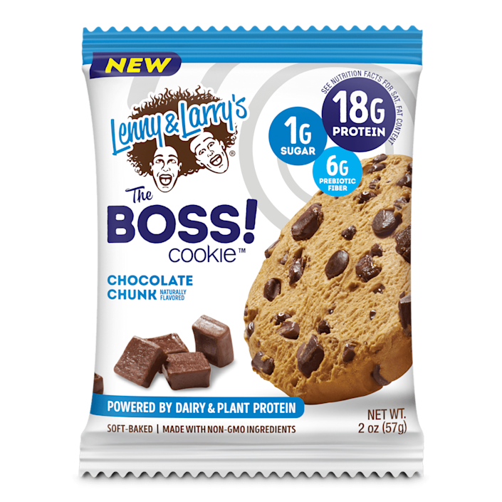 """<p>""""When I'm hungry and in a pinch, I like grabbing a protein bar for some quick energy. However, many brands on the market have a lot of sugar and carbs, which don't bode well for my nutrition goals (I need to eat pretty low-carb for my PCOS). I was excited when Lenny &amp; Larry's sent me <span>The Boss! Cookie</span> ($22 for a box of 12) to try. I loved the Chocolate Chunk flavor, and while there's no mistaking it for a <em>real</em> chocolate chip cookie, it satisfies my sweet tooth and keeps me satiated with 18 grams of protein and just one gram of sugar."""" - CS </p>"""