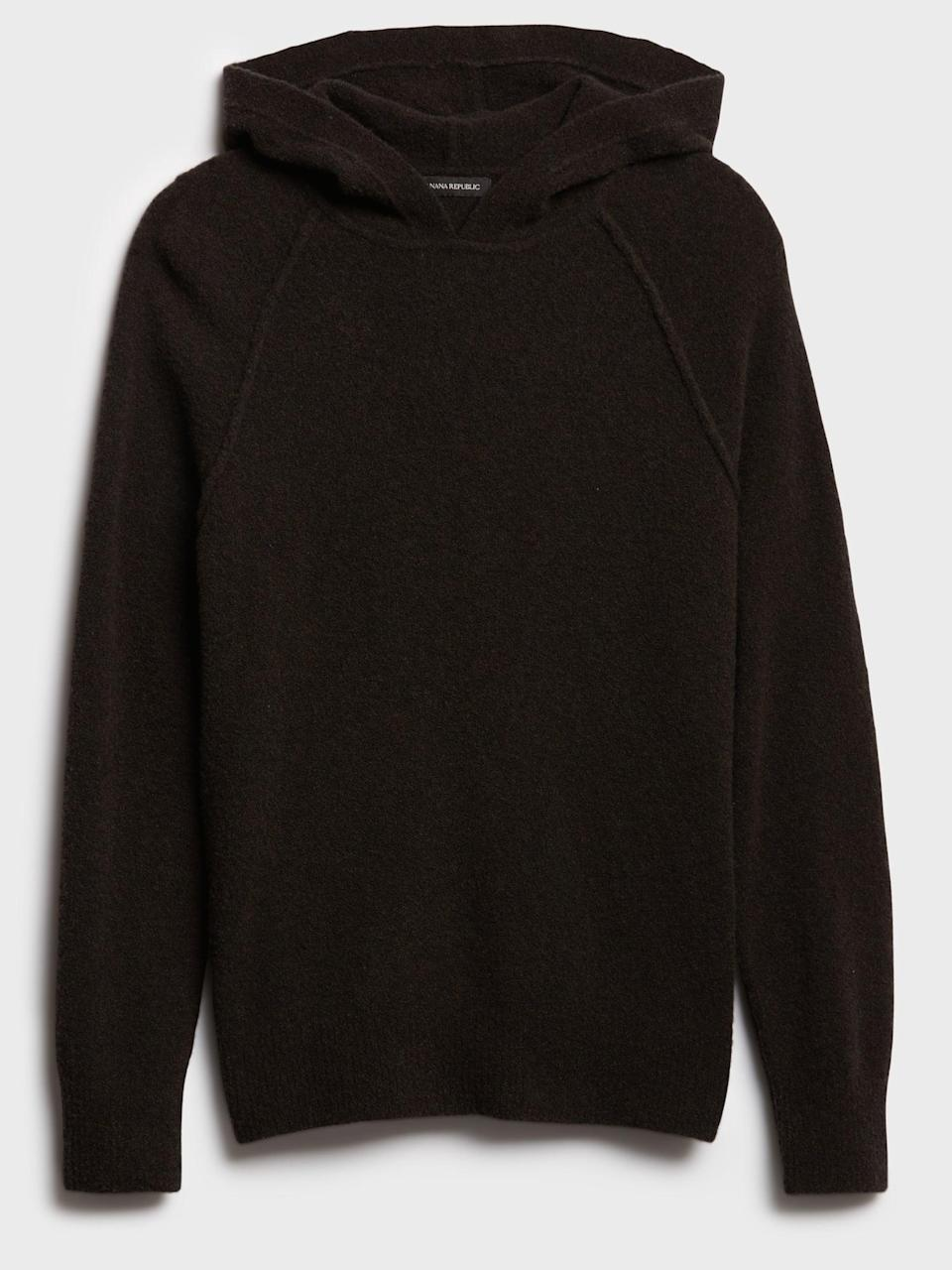 <p>It's all in the details to elevate your loungewear. He'll love this <span>Banana Republic Wool-Blend Sweater Hoodie</span> ($109) and realize it's not your average hoodie. This hoodie has a special yarn that mixes wool and yak hair resulting in a soft, warm piece with a naturally heathered look!</p>