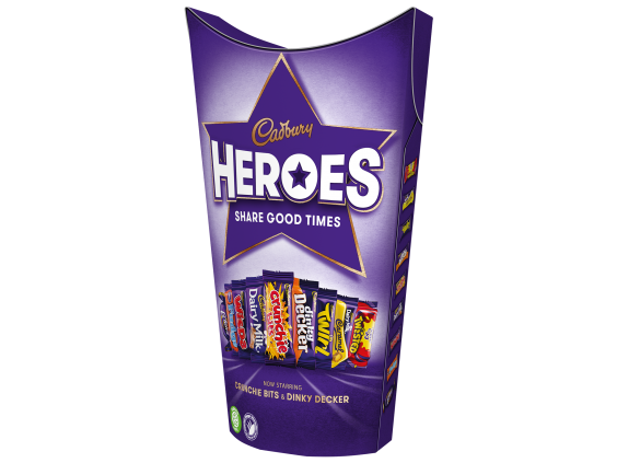 The updated Cadbury Heroes box, including the Dinky Decker and Crunchie Bits (Cadbury)