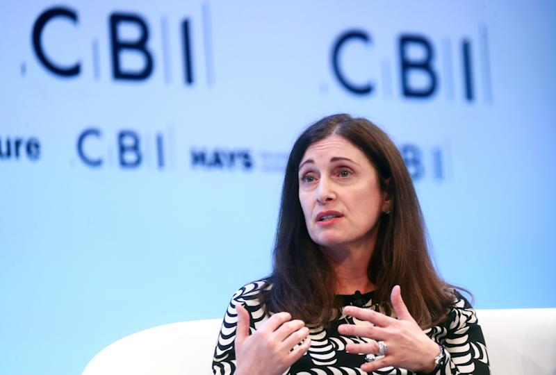 Microsoft UK CEO Cindy Rose speaks at the annual CBI Conference in London, Britain November 18, 2019. REUTERS/Simon Dawson